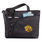 Excel Black Sport Utility Tote-Golden Lion Head