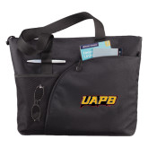 Excel Black Sport Utility Tote-UAPB Word Mark