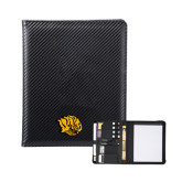 Carbon Fiber Tech Padfolio-Golden Lion Head