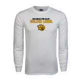 White Long Sleeve T Shirt-Arkansas Pine Bluff Golden Lions