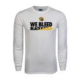 White Long Sleeve T Shirt-We Bleed Black & Gold