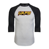 White/Black Raglan Baseball T-Shirt-UAPB Word Mark