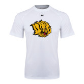 Under Armour White Tech Tee-Golden Lion Head