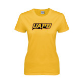 Ladies Gold T Shirt-UAPB Word Mark
