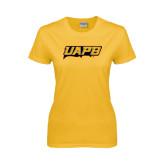 Ladies Gold T Shirt-UAPB Word Mark