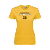 Ladies Gold T Shirt-Arkansas Pine Bluff Golden Lions