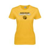 Ladies Gold T Shirt-Arkansas Pine Bluff Golden Lions