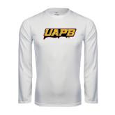 Performance White Longsleeve Shirt-UAPB Word Mark