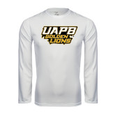 Syntrel Performance White Longsleeve Shirt-UAPB Golden Lions Stacked