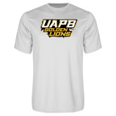Syntrel Performance White Tee-UAPB Golden Lions Stacked