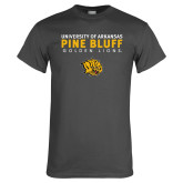 Charcoal T Shirt-University of Arkansas Pine Bluff Golden Lions