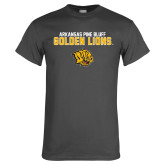 Charcoal T Shirt-Arkansas Pine Bluff Golden Lions