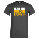 Charcoal T Shirt-Fear The Golden Lions