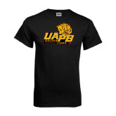 Black T Shirt-UAPB Lion Head Stacked