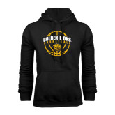 Black Fleece Hoodie-Basketball  Arched w/ Ball