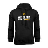 Black Fleece Hoodie-We Bleed Black & Gold