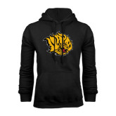 Black Fleece Hoodie-Golden Lion Head