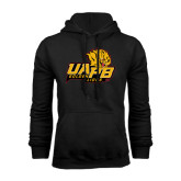 Black Fleece Hoodie-UAPB Lion Head Stacked