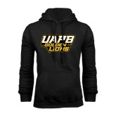 Black Fleece Hoodie-UAPB Golden Lions Stacked
