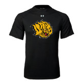 Under Armour Black Tech Tee-Golden Lion Head