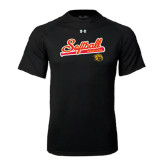 Under Armour Black Tech Tee-Softball Script