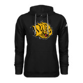 Adidas Climawarm Black Team Issue Hoodie-Golden Lion Head