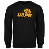 Black Fleece Crew-UAPB Lion Head Stacked