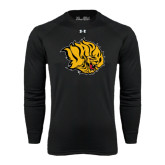 Under Armour Black Long Sleeve Tech Tee-Golden Lion Head