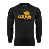 Under Armour Black Long Sleeve Tech Tee-UAPB Lion Head Stacked
