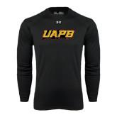 Under Armour Black Long Sleeve Tech Tee-UAPB Word Mark