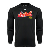 Under Armour Black Long Sleeve Tech Tee-Softball Script