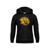 Youth Black Fleece Hoodie-Golden Lion Head