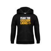 Youth Black Fleece Hood-Fear The Golden Lions