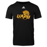 Adidas Black Logo T Shirt-UAPB Lion Head Stacked