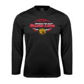 Syntrel Performance Black Longsleeve Shirt-Golden Lions Football in Ball