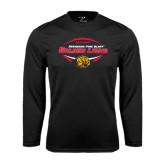 Performance Black Longsleeve Shirt-Golden Lions Football in Ball