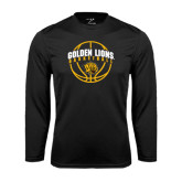 Syntrel Performance Black Longsleeve Shirt-Basketball  Arched w/ Ball