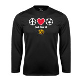 Syntrel Performance Black Longsleeve Shirt-Soccer Just Kick It