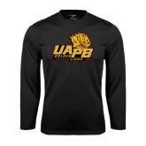 Performance Black Longsleeve Shirt-UAPB Lion Head Stacked