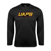 Performance Black Longsleeve Shirt-UAPB Word Mark