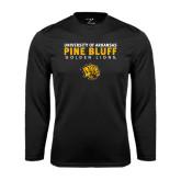 Performance Black Longsleeve Shirt-University of Arkansas Pine Bluff Golden Lions
