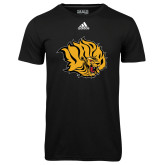 Adidas Climalite Black Ultimate Performance Tee-Golden Lion Head