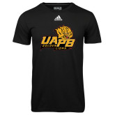 Adidas Climalite Black Ultimate Performance Tee-UAPB Lion Head Stacked