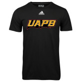 Adidas Climalite Black Ultimate Performance Tee-UAPB Word Mark