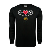 Black Long Sleeve TShirt-Soccer Just Kick It