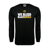 Black Long Sleeve TShirt-We Bleed Black & Gold