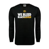 Black Long Sleeve TShirt-We Bleed Black & Gold