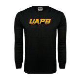 Black Long Sleeve TShirt-UAPB Word Mark