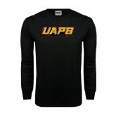 Black Long Sleeve TShirt-UAPB Word Mark