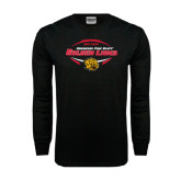 Black Long Sleeve TShirt-Golden Lions Football in Ball